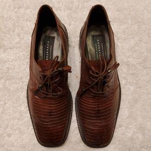 AVVENTURA Handmade Karmelo Lizard Oxford Shoes